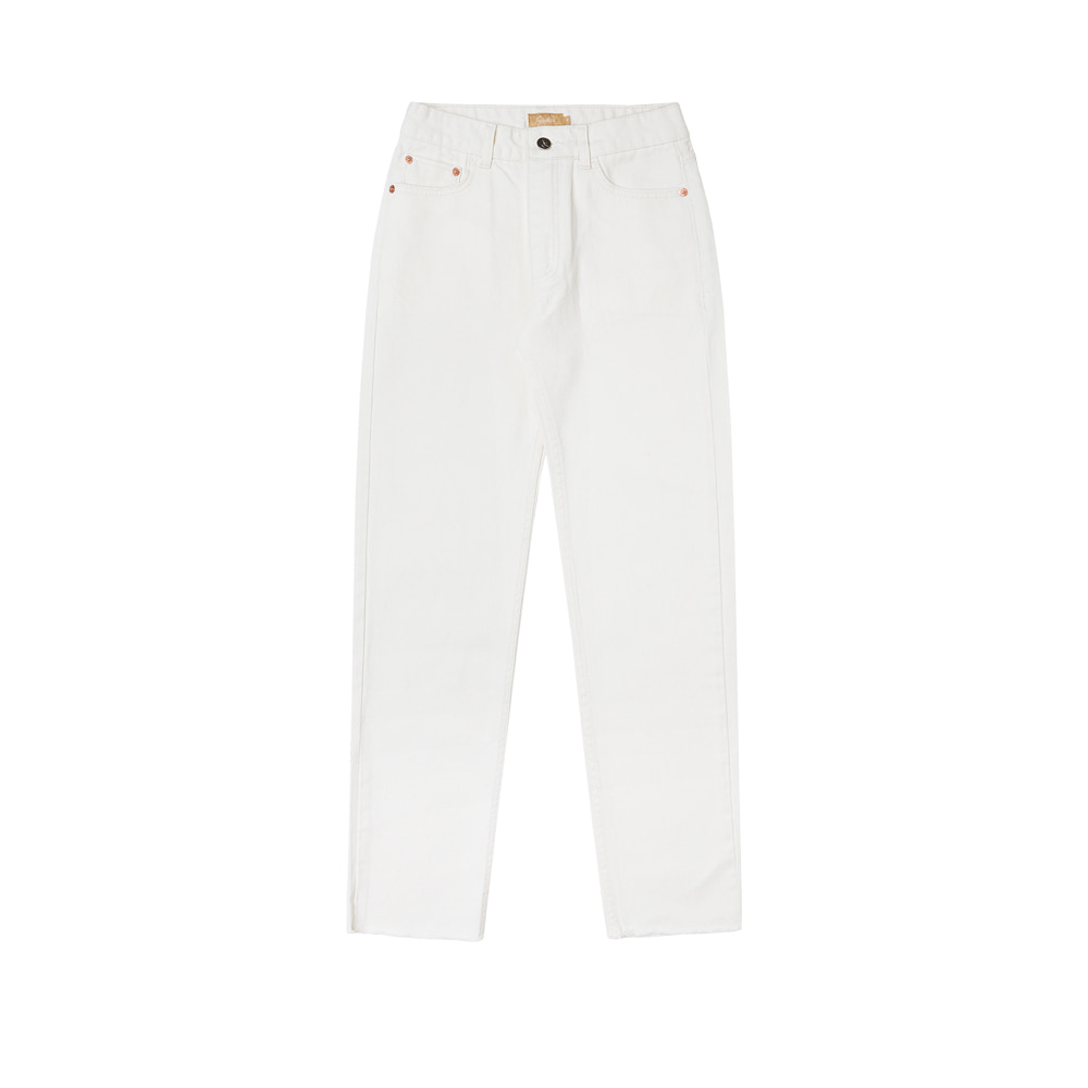 SI JN 6016 Semi Tapered Cream Jeans