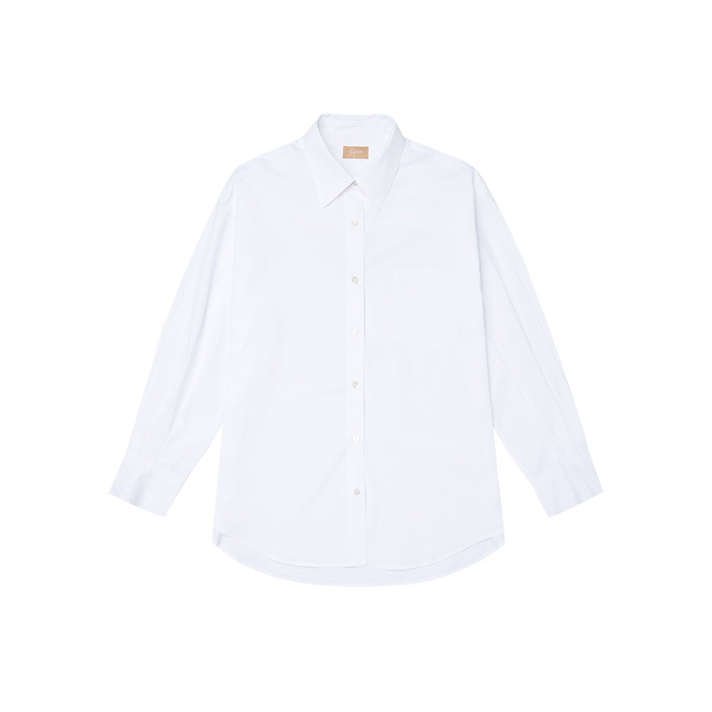 SI TP 5019 Oversized Cotton Shirt_Off white