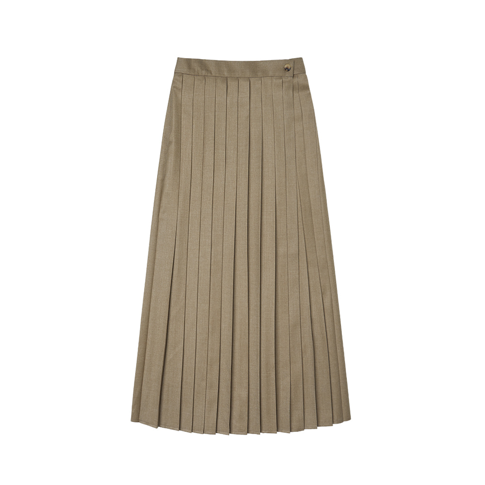 SI ST 9003 Pleats Wrap Skirt_Light mocha