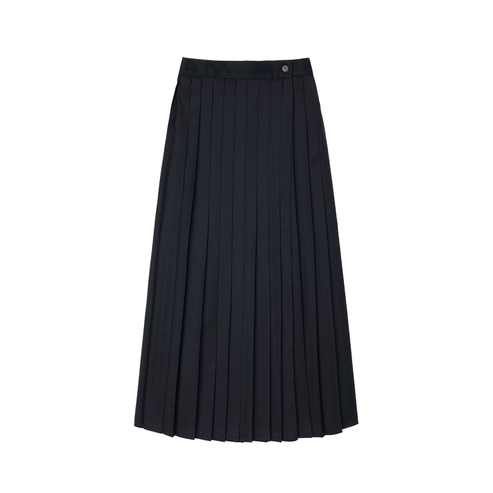 SI ST 9003 Pleats Wrap Skirt_Dark navy