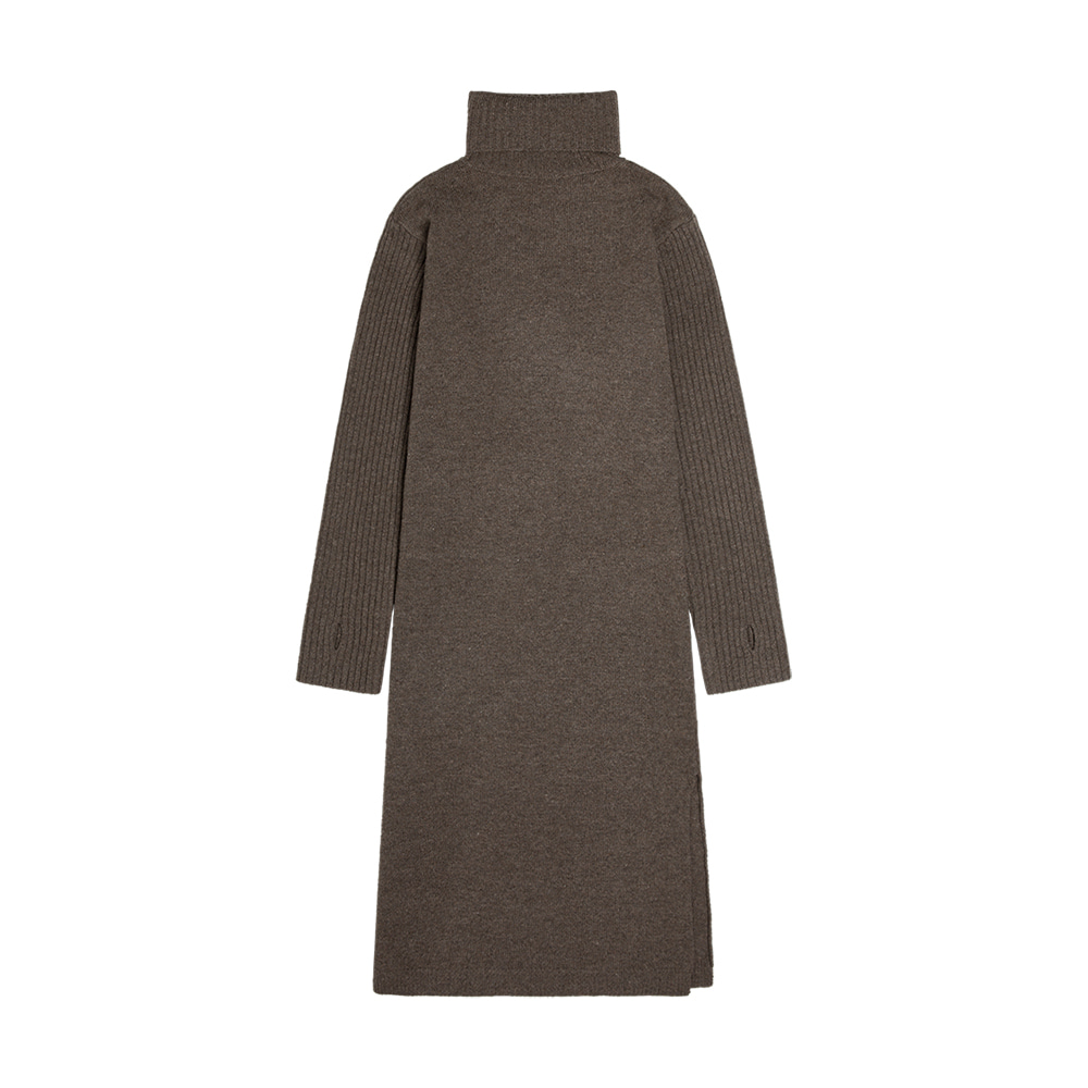 SKN 2003 Merino Wool Long Knit_Brown melton