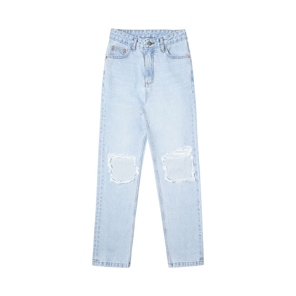 SI JN 6018 High Waist Destroyed Jeans